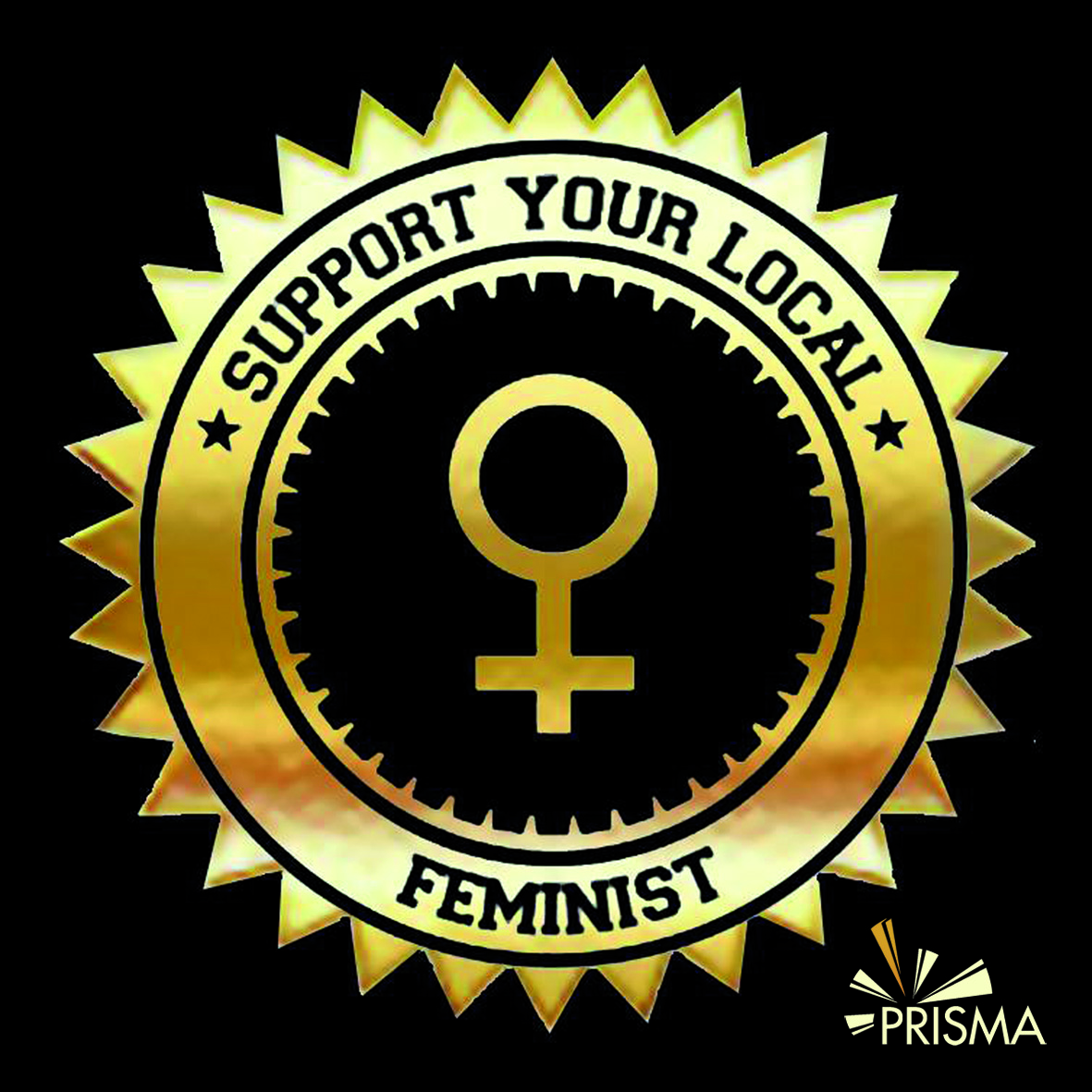 support your local feminist logo